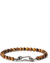 Bracelet orné de perles marron Bottega Veneta