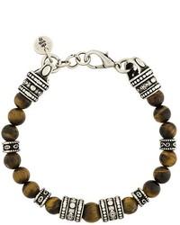 Bracelet orné de perles marron Eleventy