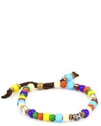 Bracelet orné de perles multicolore