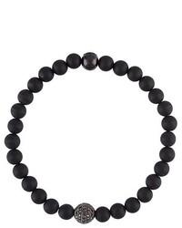 Bracelet orné de perles noir