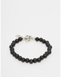 Bracelet orné de perles noir Icon Brand