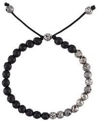 Bracelet orné de perles noir M. Cohen