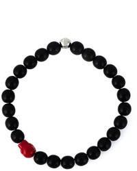 Bracelet orné de perles noir Paul Smith
