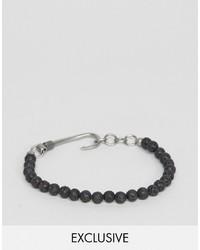 Bracelet orné de perles noir Seven London