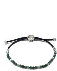 Bracelet orné de perles olive