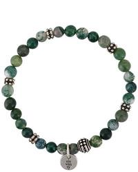 Bracelet orné de perles olive Eleventy