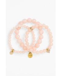 Bracelet orné de perles rose