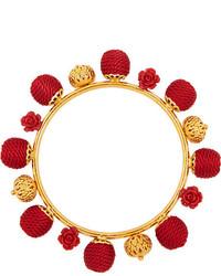 Bracelet orné de perles rouge Dolce & Gabbana