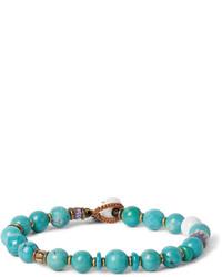 Bracelet orné de perles turquoise