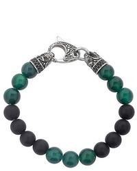 Bracelet orné de perles vert foncé