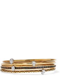 Bracelet orné doré Alexander McQueen