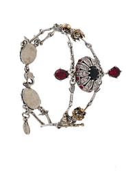Bracelet orné gris Alexander McQueen