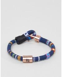 Bracelet tressé bleu Icon Brand