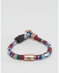 Bracelet tressé bordeaux Icon Brand
