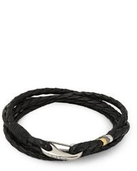 Bracelet tressé noir Paul Smith