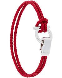 Bracelet tressé rouge Salvatore Ferragamo