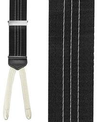 Bretelles à rayures verticales blanches et noires