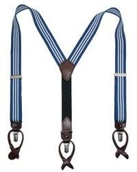 Bretelles bleu marine et blanc