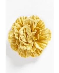 Broche à fleurs jaune