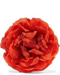 Broche à fleurs orange Gucci