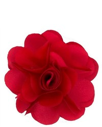 Broche à fleurs rouge