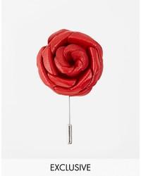 Broche à fleurs rouge Asos