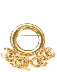 Broche dorée Chanel