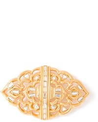 Broche dorée Saint Laurent