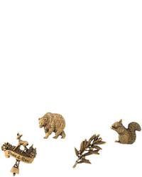 Broche imprimée léopard dorée Dsquared2