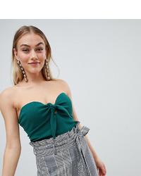 Bustier vert foncé Fashion Union Petite