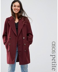 Caban bordeaux Asos