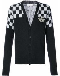 Cardigan à carreaux noir et blanc Saint Laurent