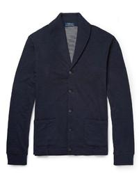Cardigan à col châle bleu marine Polo Ralph Lauren