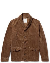 Cardigan à col châle brun