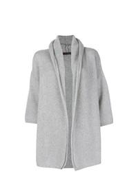 Cardigan à col châle en cachemire gris Incentive! Cashmere