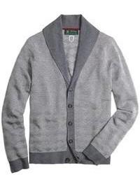Cardigan à col châle gris