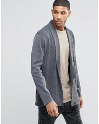 Cardigan à col châle gris Asos