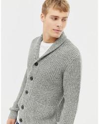 Cardigan à col châle gris Burton Menswear