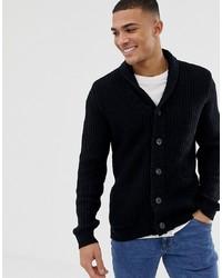 Cardigan à col châle noir Burton Menswear