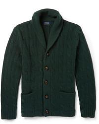 Cardigan à col châle vert foncé Polo Ralph Lauren