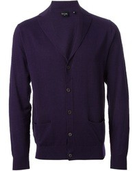 Cardigan à col châle violet Paul Smith
