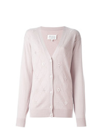 Cardigan à losanges rose Maison Margiela