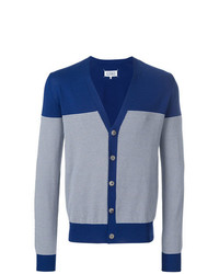 Cardigan à rayures horizontales bleu clair Maison Margiela