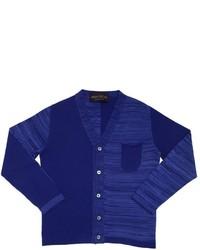 Cardigan à rayures horizontales bleu marine
