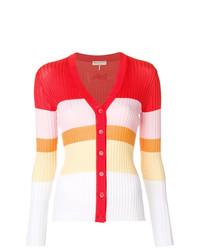 Cardigan à rayures horizontales multicolore Emilio Pucci
