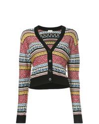 Cardigan à rayures horizontales multicolore Saint Laurent