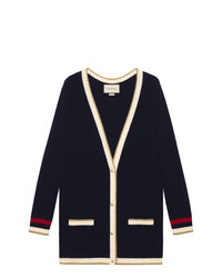 Cardigan bleu marine Gucci