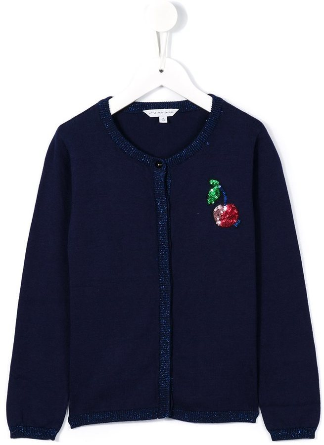 Cardigan bleu marine Little Marc Jacobs