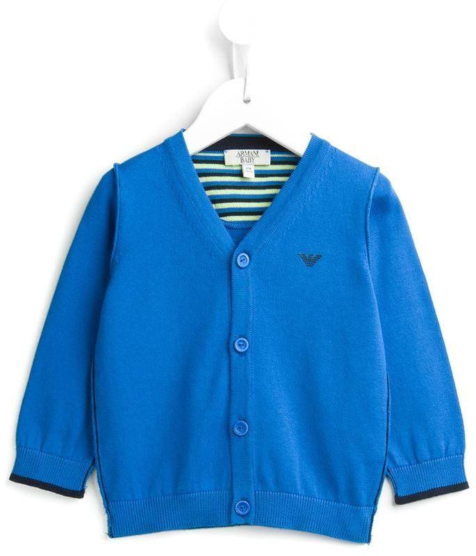 Cardigan bleu Armani Junior