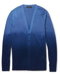 Cardigan bleu Burberry